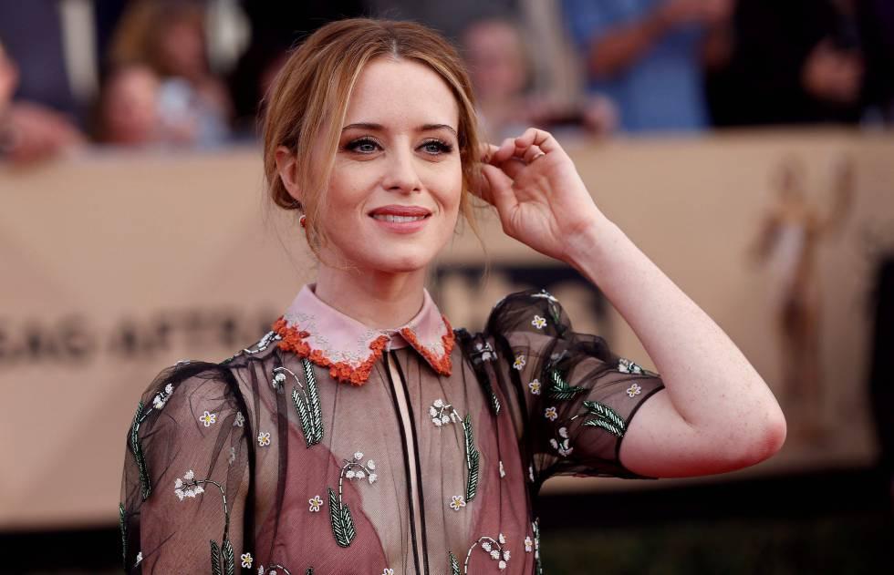 A atriz Claire Foy na premiação do Screen Actors Guild realizada em janeiro em Los Angeles.