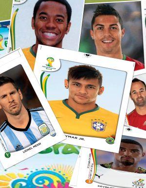 Figurinhas da Copa 2014.