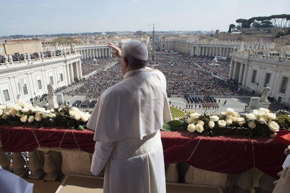 O Papa, neste domingo, no Vaticano.