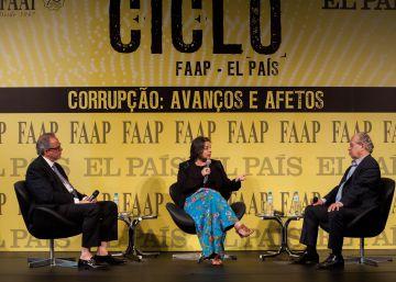 Ex-ministro participou do Ciclo de Debates FAAP-EL PAÍS. O professor de Direito Marcio Pestana também estava presente