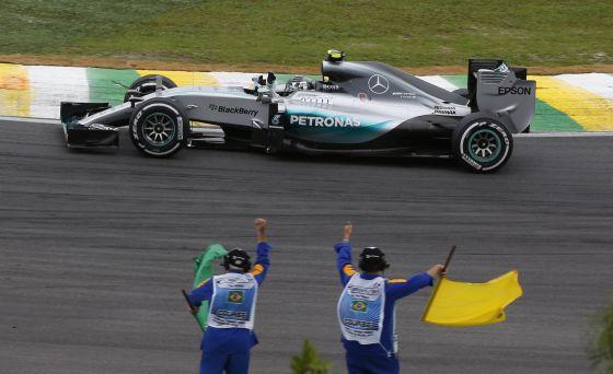 Rosberg, depois de ganhar em Interlagos.