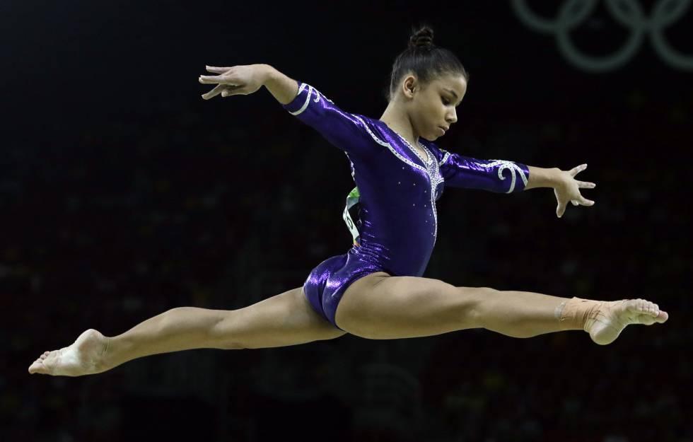 Flavia Saraiva, na prova que a classificou para a final.
