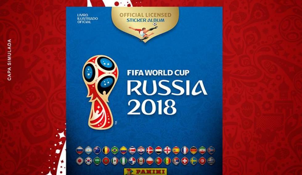 Capa do álbum da Copa do Mundo Rússia 2018.