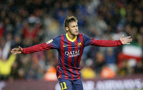 Neymar no jogo contra o Celta de Vigo.