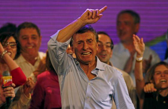 O candidato presidencial Mauricio Macri, em Buenos Aires.
