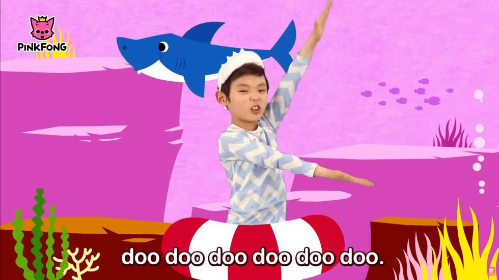 Frame do popular vídeo 'Baby shark', que tem mais de dois bilhões de reproduções no YouTube.