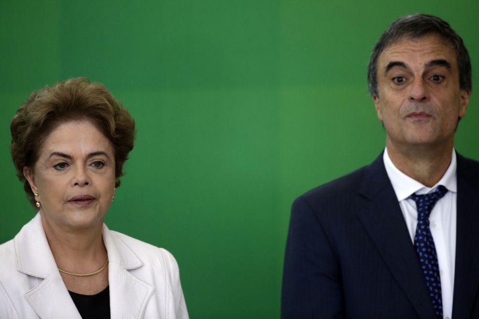 Dilma e Cardozo na posse de Wellington César Lima no Ministério da Justiça.