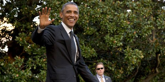Obama nos jardins da Casa Branca no dia 1 de outubro.