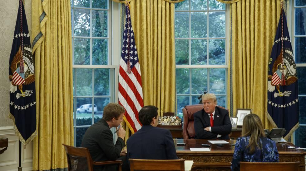 Trump na terça-feira durante entrevista à agência Associated Press