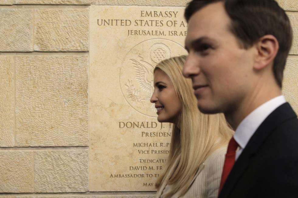 Ivanka Trump e Jared Kushner na segunda-feira em Jerusalém durante a inauguração da nova Embaixada norte-americana.