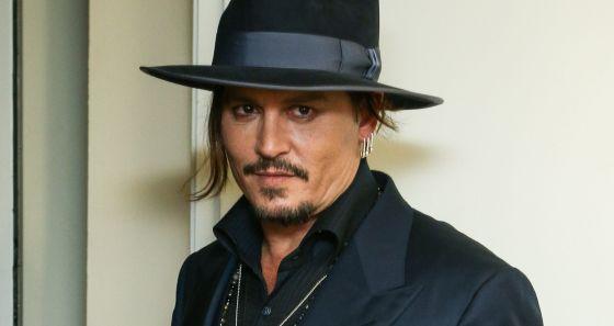 O ator Johnny Depp.