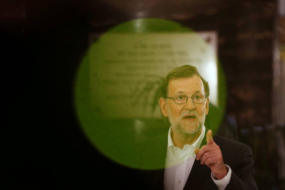 Mariano Rajoy, durante coletiva de imprensa em que explicou seu encontro com Albert Rivera.
