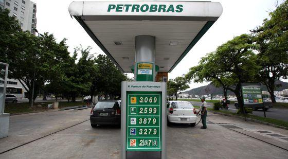 Posto de gasolina da Petrobras no Rio de Janeiro.