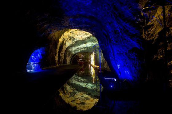 Interior de una mina em Cundinamarca, Colômbia.