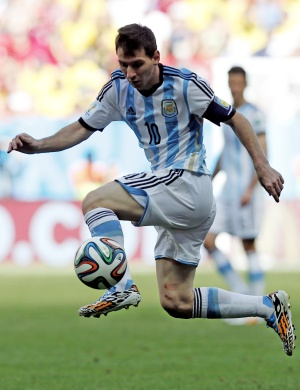 Messi, durante a partida contra a Bélgica.