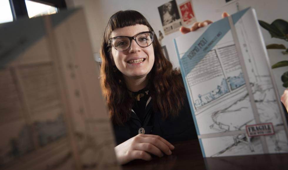 Barcelona, 28/12/2018. Entrevista con la ilustradora Maria Manonelles, para cultura. (Foto: JUAN BARBOSA)