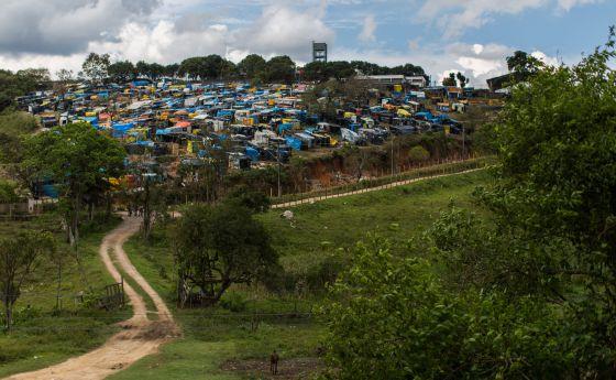 Acampamento do MTST na Grande São Paulo.
