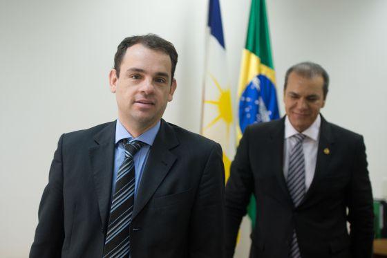 O procurador Frederico Paiva, da operação Zelotes, e o senador Ataídes Oliveira.