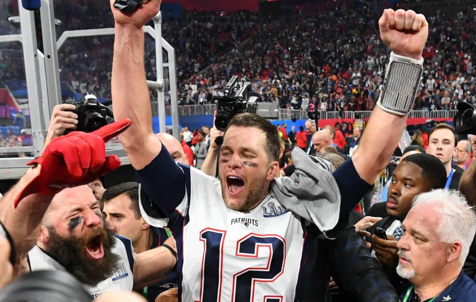 Tom Brady, durante a celebração do título.