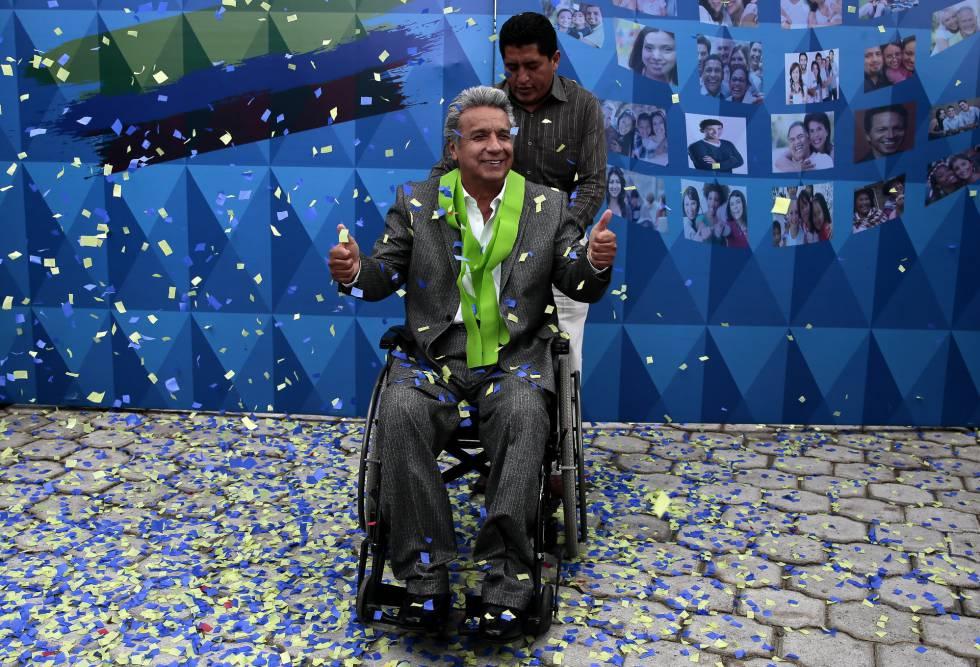 Lenín Moreno, vencedor das eleições no Equador, na terça-feira.