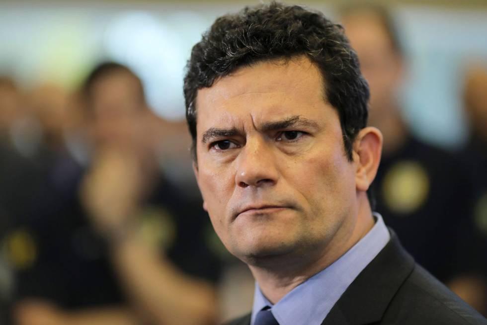 O ministro e antigo juiz Sergio Mouro nesta sexta-feira em Brasília.