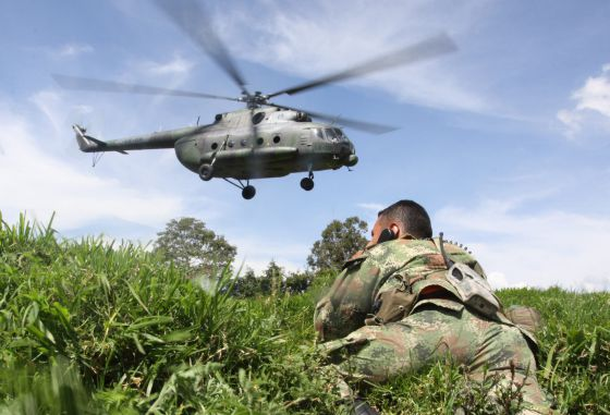Zonas de combate en Colombia.