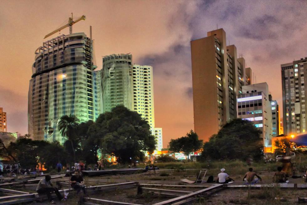 Área do Parque Augusta, em março de 2015, em São Paulo.
