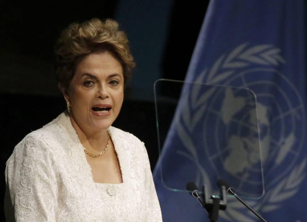 A presidenta Dilma Rousseff, durante pronunciamento na Assembleia da ONU.