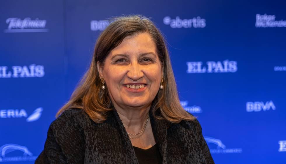 Lourdes Casanova durante o Fórum EUA, América Latina e Espanha, organizado pelo EL PAÍS.