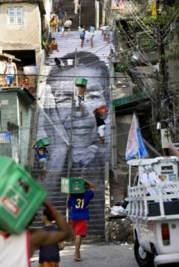 Acceso à favela Morro dá Provicência, no Rio de Janeiro.