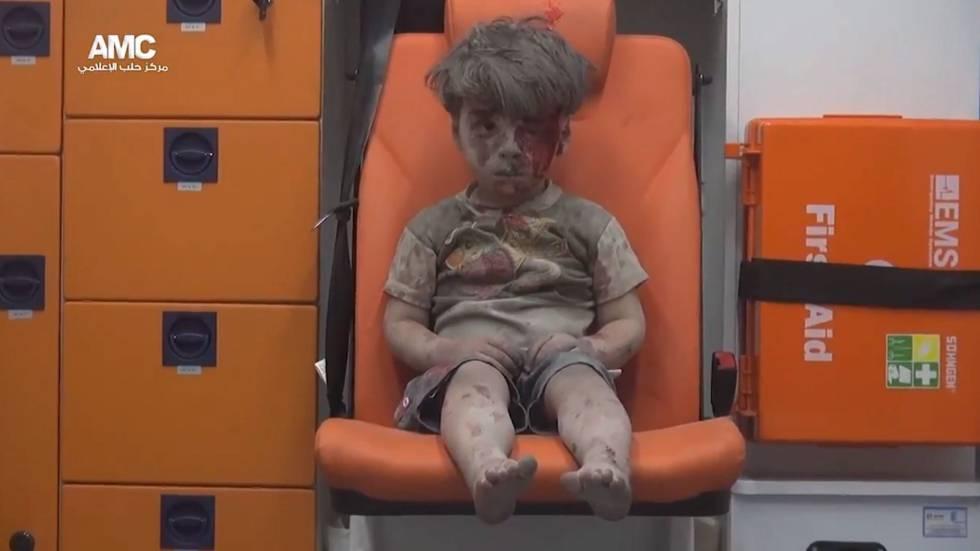 A imagem da criança síria que foi capa em veículos do mundo todo.