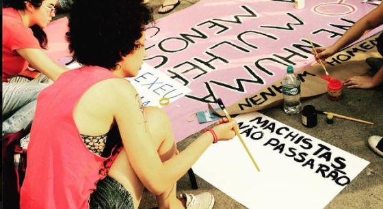 Protesto em São Paulo contra o projeto.