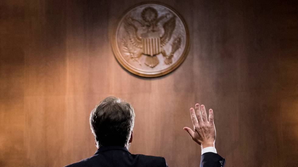 Brett Kavanaugh no Comitê Judicial do Senado, em 27 de setembro