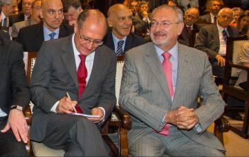 Alckmin e Nalini, em dezembro.