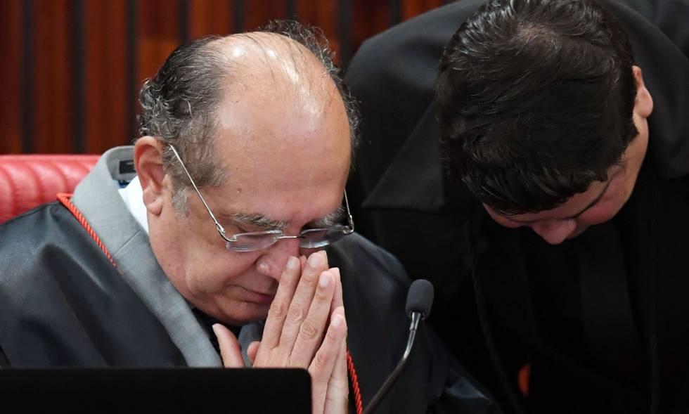 O ministro Gilmar Mendes, que preside o TSE.