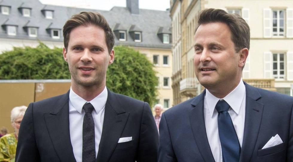 Gauthier Destenay e o primeiro-ministro de Luxemburgo, Xavier Bettel