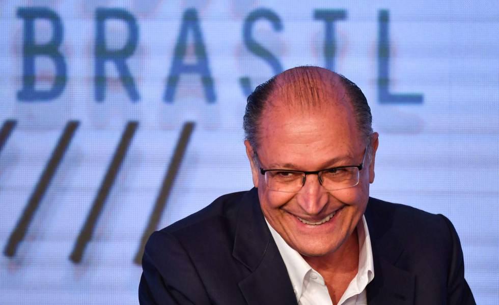Geraldo Alckmin durante fórum sobre tecnologia em São Paulo, em 7 de agosto.