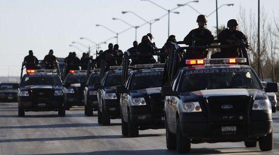 Polícia federal mexicana.