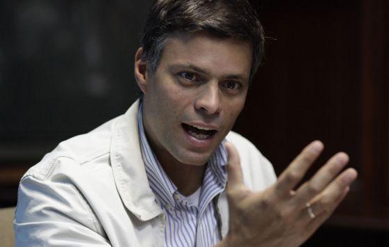 O político opositor venezuelano Leopoldo López.