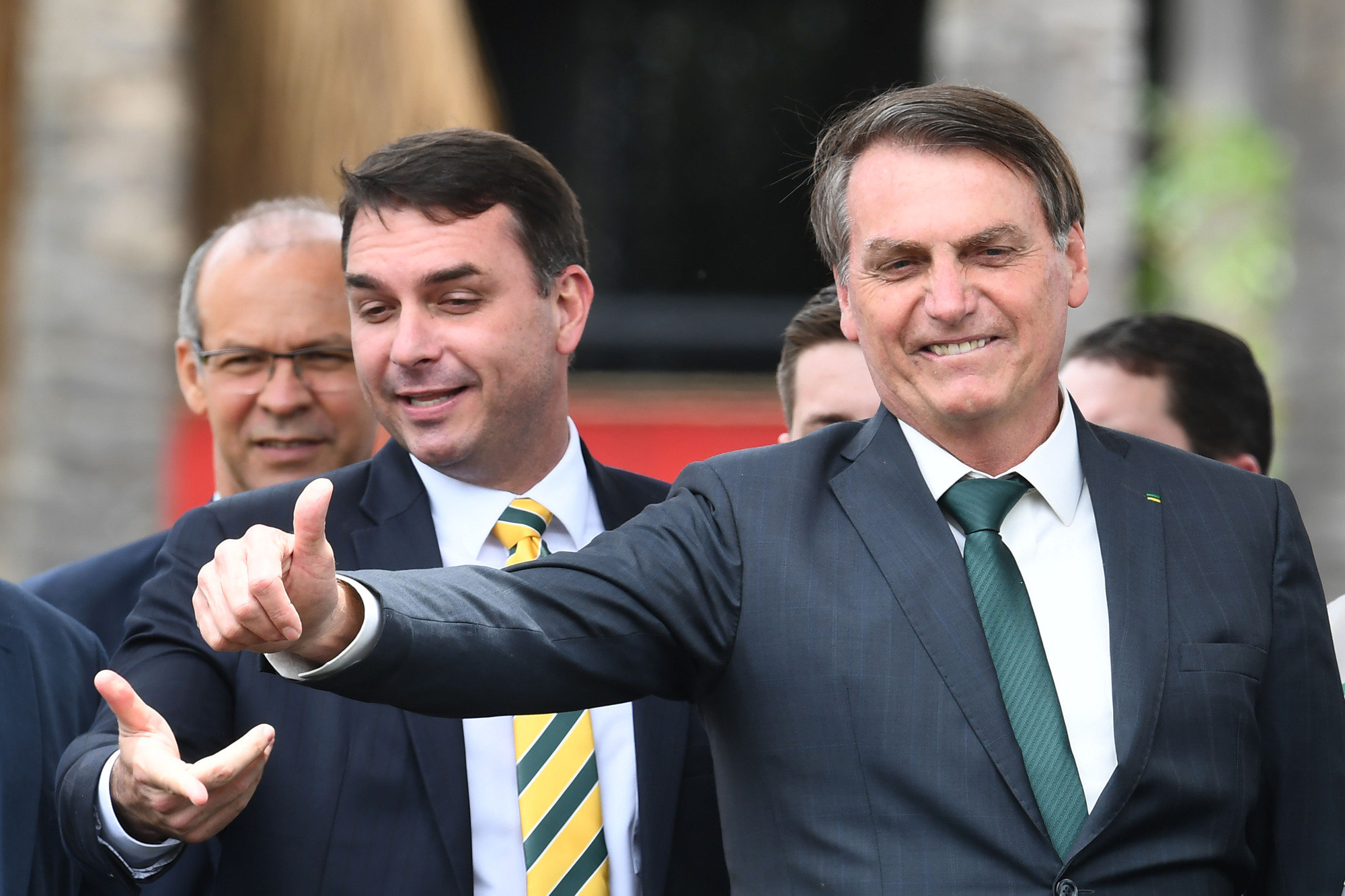 Flávio e Jair Bolsonaro no lançamento do Aliança pelo Brasil.