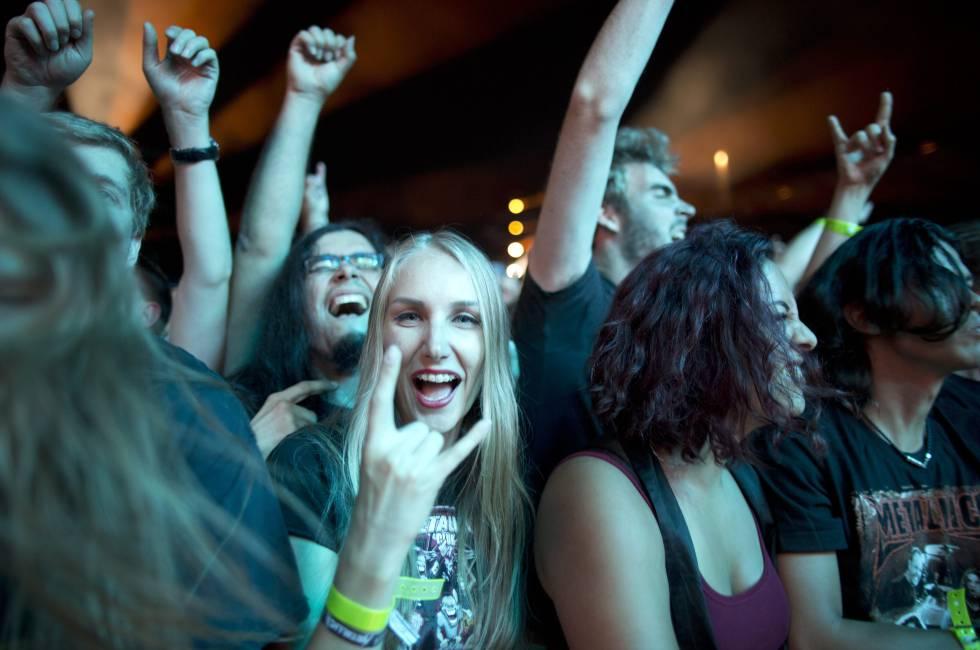Fãs do Metallica num concerto recente da banda californiana.