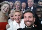 Uma de suas imagens que compartilhou Ellen DeGeneres na noite dos Oscar conseguiu bater o recorde de retuits