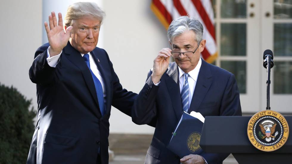 Trump e Jerome Powell