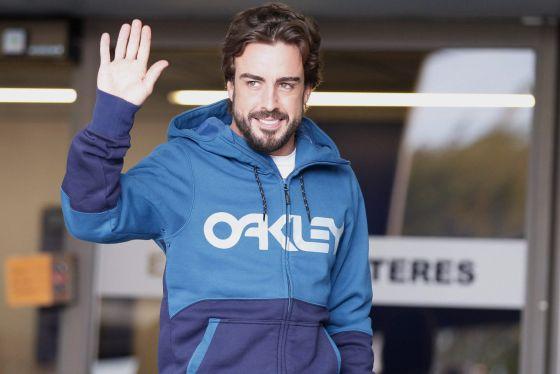 Alonso, ao sair do hospital após três dias.