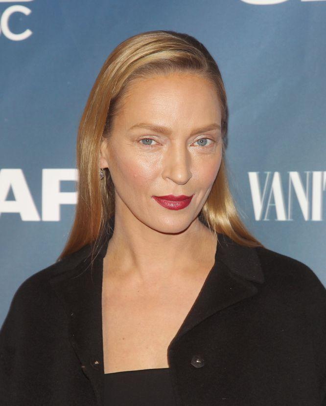 Uma Thurman durante apresentação de um filme, em 9 de fevereiro deste ano.