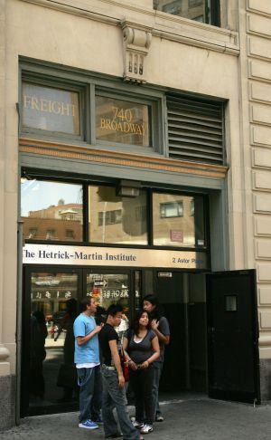 Estudantes no instituto Harvey Milk, em Nova York.