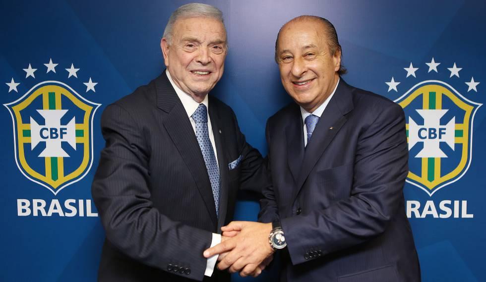 Marin e Del Nero, cartolas da CBF indiciados por corrupção.