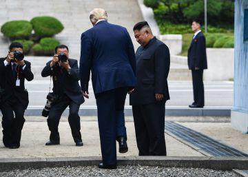 Em um gesto histórico que reduz a tensão entre os dois países, o mandatário norte-americano cruzou para o território norte-coreano