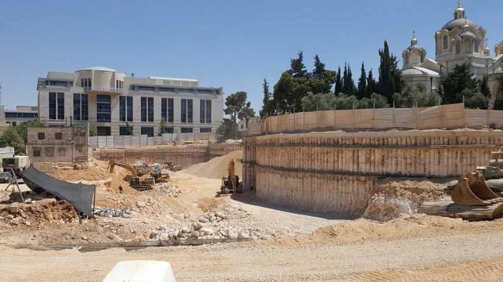 Escavação no Complexo Russo, em Jerusalém, um dos bairros mais antigos da cidade