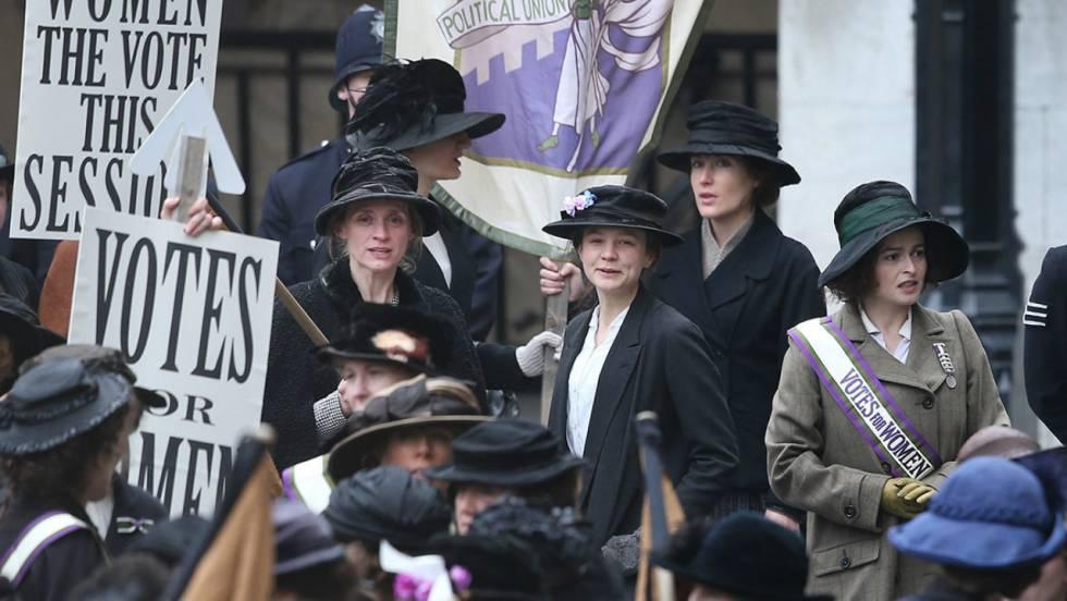 Cena do filme 'As Sufragistas', que aborda a luta das mulheres por igualdade de direitos no Reino Unido.